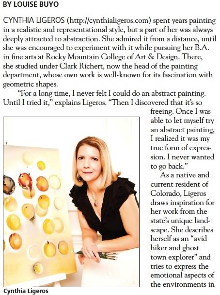 Cynthia Ligeros Interview Professional Artist Magazine 1