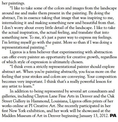 Cynthia Ligeros Interview Professional Artist Magazine 2