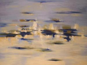 """Touch the Sky 30"""" x 40"""" Abstract Oil Painting by Cynthia Ligeros"""