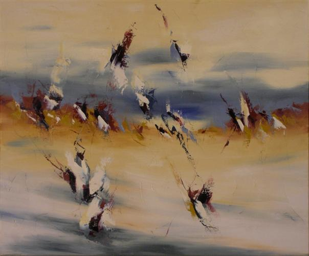 "Wind Whispers 20"" x 24"" Abstract Oil Painting by Cynthia Ligeros"