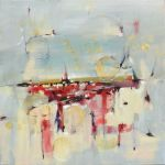 "Promise of Spring 24"" x 24"" Abstract Oil Painting $875"