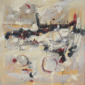 Breathless Glimpse 40″ x 40″ Abstract Oil Painting