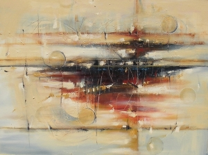 "City Rising 30"" x 40"" Abstract Oil Painting"