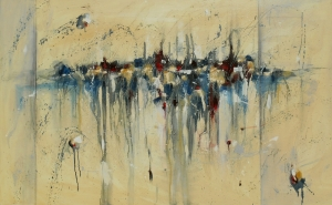 Parade of Promises 30x48 Abstract Oil Painting