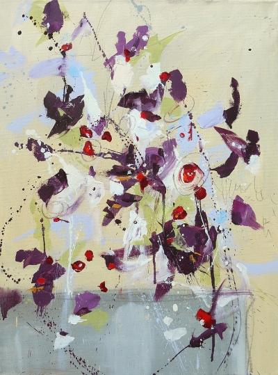 Fleur du Ciel de l'Est (Flower of the Eastern Sky) 24x18